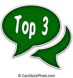 testo, cima, message., 3, discorso, verde, palloni