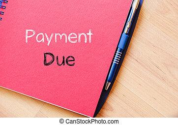testo, concetto, dovuto, quaderno, pagamento