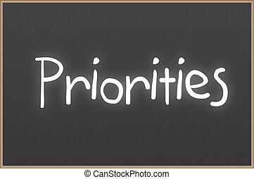 testo, lavagna, priorities