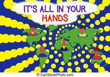 testo, map., tutto, hands., globale, esso, parola,...