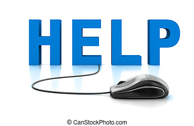 testo, mouse elaboratore, aiuto, 3d