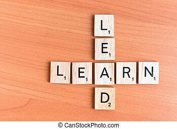 testo, piombo, imparare