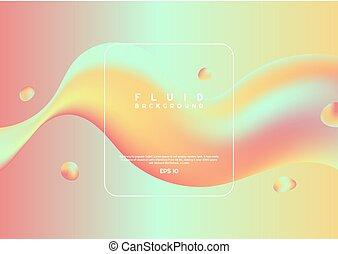 testo, pulito, tuo, disegno, fluido, colorito, onda, moderno, spazio, elemento