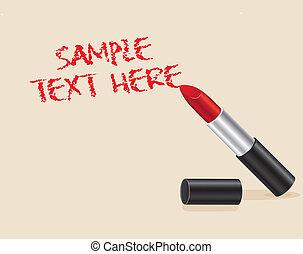 testo, rossetto, rosso