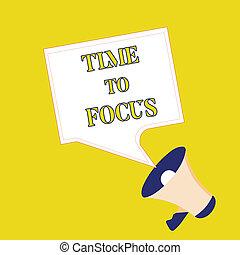 testo, segno, esposizione, tempo, a, fuoco., concettuale, foto, dare, pieno, attenzione, a, qualcosa, o, attività, chiave successo