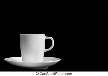 testo, tazza caffè, spazio bianco