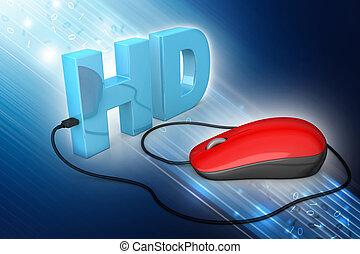 testo, topo, computer, collegato, hd