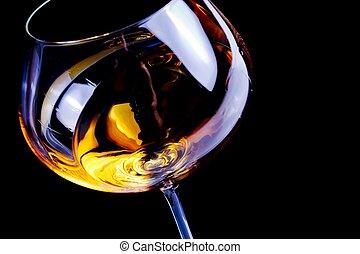 testo, vino bianco, occhiali, spazio