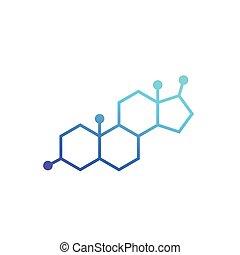 testosterone molecule, vector icon, eps 10 file, easy to ...