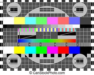testpatroon, televisie, of, kaart