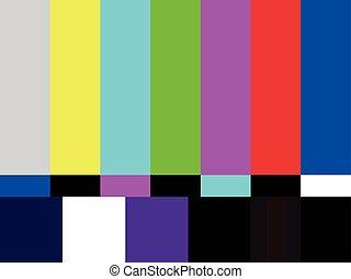 testpatroon, televisie, strepen