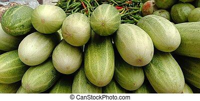 testy and healthy fresh cucumber closeup