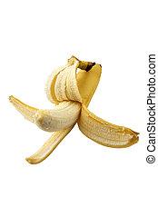 testy banana isolated on the white background