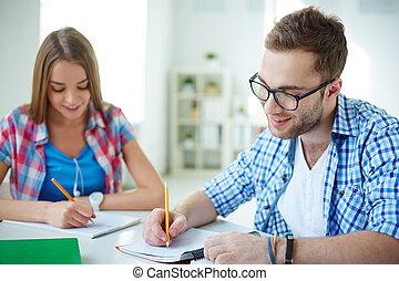 teszt, írás