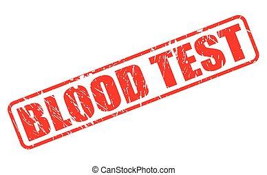 teszt, bélyeg, vér, piros, szöveg
