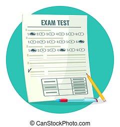 teszt, ceruza, dolgozat, vizsgálat, felel