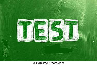 teszt, fogalom