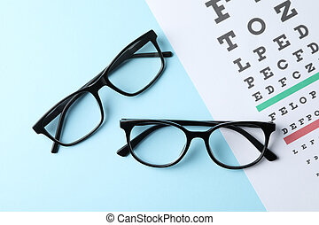 teszt, háttér, tető kilátás, szem, kék, diagram, szemüveg