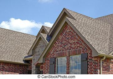 tető, egyenes