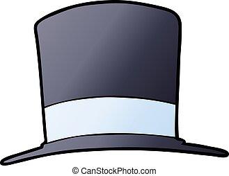 tető kalap, karikatúra