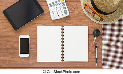 tető kilátás, közül, hivatal, asztal