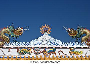 tető, sárkány