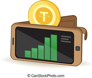 Tether Wallet - Tether Cryptocurrency Coin Digital Wallet