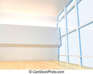 teto, janela, quarto vazio