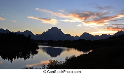 Teton Mountain Range Sunset