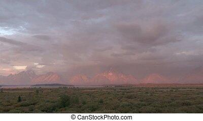 Teton Range at sunrise