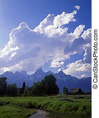 TetonRanch#4 - An old homestead and the Teton Mountain Range...