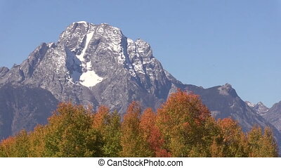 Tetons in Fall Zoom Out