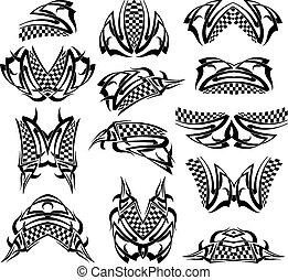 tetovál, életpálya lobogó
