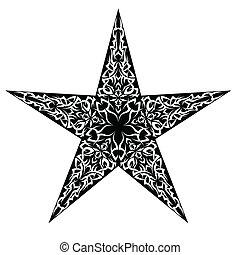 tetovál, csillag