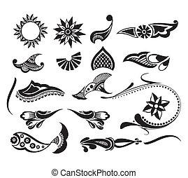 tetovál, elem