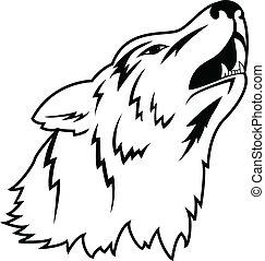 tetovál, farkas