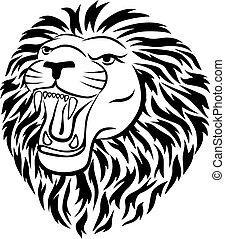 tetovál, oroszlán