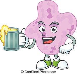 tetracoccus, tostada, feliz, estilo, mascota, jarrade ...