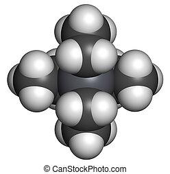 Tetraethyllead gasoline octane booster molecule. Neurotoxic orga