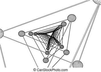 Tetrahedron DNA Molecule Structure