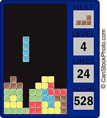 tetris, dispositivo, interfaz