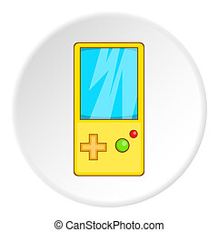 Tetris for games icon, cartoon style
