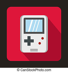 Tetris for games icon, flat style