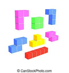 tetris game 3D cubes