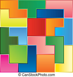 tetris game pieces fit together