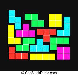 tetris with black background