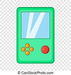Tetris icon, cartoon style