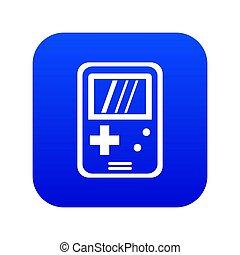 Tetris icon digital blue for any design isolated on white illustration