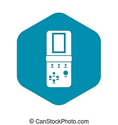 Tetris icon in simple style on a white background