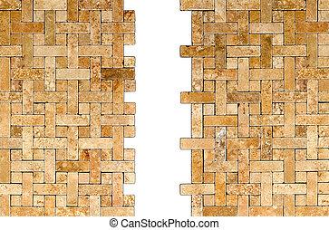tetris mosaic tile